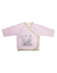 Распашонка розовая для малышей зайки Котмаркот