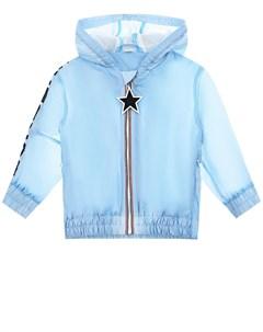 Голубая ветровка с капюшоном Burberry