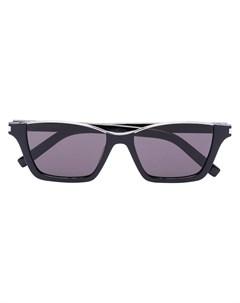 Солнцезащитные очки Dylan в прямоугольной оправе Saint laurent eyewear