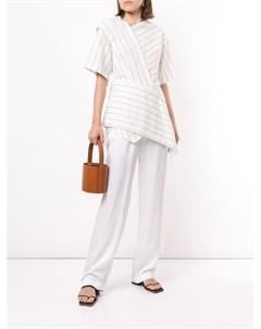 Полосатая блузка асимметричного кроя Goen.j