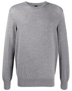 пуловер с нашивкой логотипом и круглым вырезом Raeburn