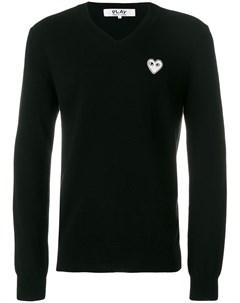 пуловер с V образным вырезом Comme des garcons play