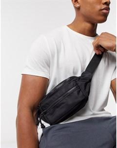 Черная сумка кошелек на пояс в стиле милитари Topman