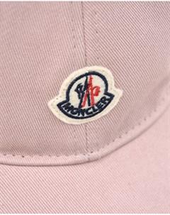 Розовая бейсболка с логотипом детская Moncler