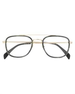 очки в квадратной оправе David beckham eyewear