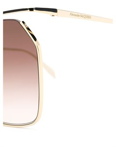 Солнцезащитные очки в шестиугольной оправе Alexander mcqueen eyewear