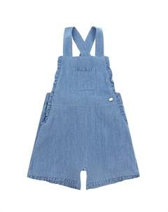 Синий джинсовый полукомбинезон с оборками детский Tartine et chocolat
