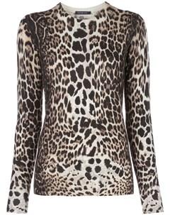 пуловер с леопардовым узором Samantha sung