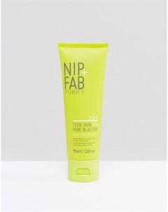 Маска скраб для лица 2 в 1 NIP FAB Teen Skin Fix Pore Blaster Бесцветный Nip+fab