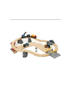 Железная дорога с автодорогой и переездом Brio