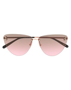 Солнцезащитные очки в безободковой оправе кошачий глаз Stella mccartney eyewear
