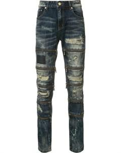 Рваные джинсы кроя скинни God's masterful children