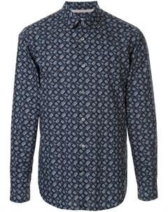Рубашка с длинными рукавами и вышивкой Gieves & hawkes