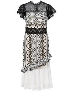 Платье с кружевной отделкой Sea