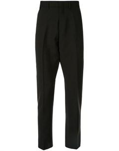 брюки строгого кроя со складками No21