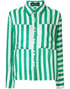 Рубашка в полоску с карманами оверсайз Anna october