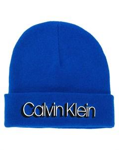 шапка бини с логотипом Calvin klein
