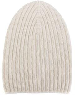 Кашемировая шапка бини в рубчик Barrie
