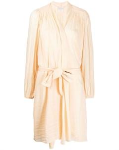приталенный халат с поясом Forte forte