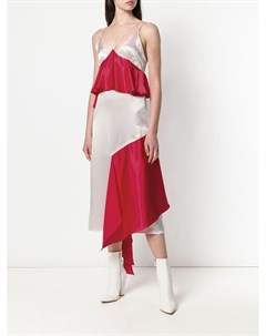 Асимметричное платье с оборками Each x other