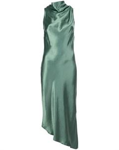 Платье асимметричного кроя с эффектом металлик Nomia