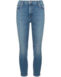 Укороченные джинсы скинни с завышенной талией Mother
