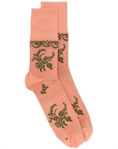 Жаккардовые носки с цветочным узором Simone rocha