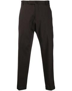 Укороченные брюки строгого кроя Dell'oglio