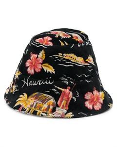 Панама с цветочным принтом Buscemi