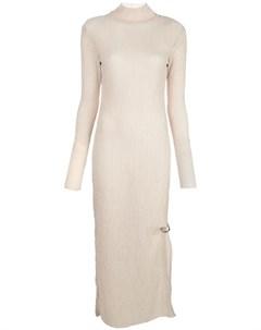 Фактурное платье с высоким воротником Nomia