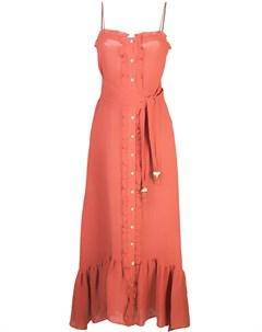 Платье макси с оборками Lisa marie fernandez