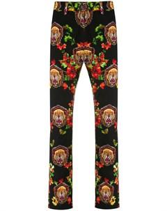 Флисовые брюки с принтом Facetasm