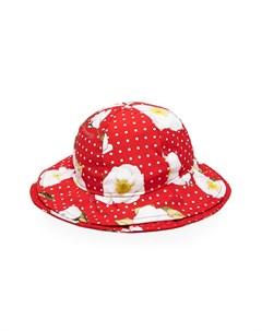 Шляпа в горох с цветочным принтом Monnalisa