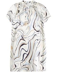Расклешенное платье с графичным принтом Chinti & parker