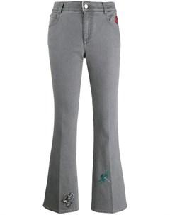 Расклешенные джинсы с вышивкой Stella mccartney