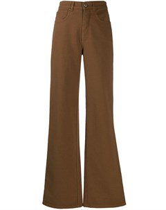 Расклешенные брюки с пятью карманами Alberta ferretti