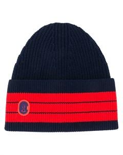 шапка бини с контрастными полосками Coach