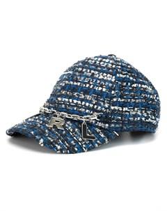твидовая бейсбольная кепка Karl lagerfeld