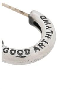 серьга кольцо Hlywd с гравировкой Goodfight