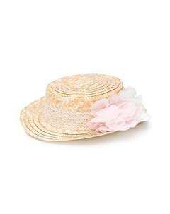 Плетеная шляпа с лентой в технике кроше Patachou