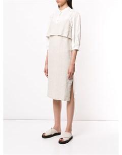 Платье миди с драпировкой Venroy