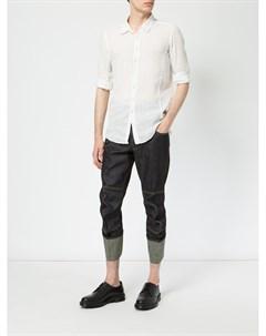 Укороченные брюки с подвернутым низом Christopher nemeth