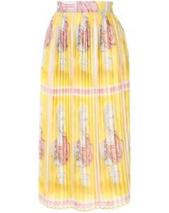 Плиссированная юбка с принтом Tata naka