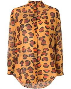 Рубашка оверсайз с леопардовым принтом Tata naka