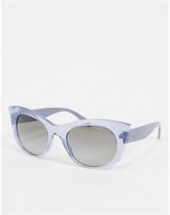 Лавандовые солнцезащитные очки кошачий глаз Vogue Фиолетовый