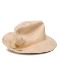 шляпа с эффектом потертости Horisaki design & handel