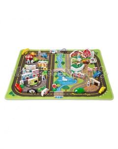 Игровой коврик Город набор делюкс Melissa & doug