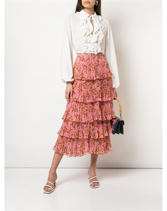 Многослойная юбка Fluera с цветочным принтом Alexis