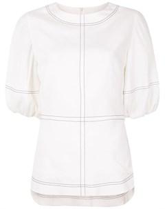 Блузка с декоративной строчкой Goen.j