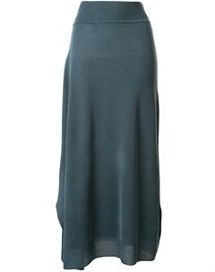 Жаккардовая юбка миди с драпировкой Goen.j